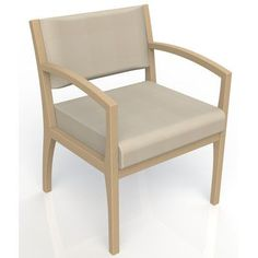 Kutzke Furniture Itasca Wall Guard Back Leg Guest Chair Finish: Fawn, Arm Options: Straight, Seat Color: Script Linen