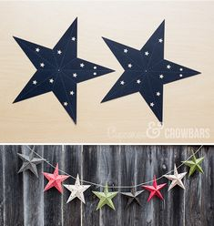 Free cut file for 3D stars (perfect for ornaments or a banner)