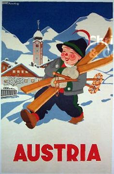 Kase from Austria Vintage Ski Posters, Vintage Postcards, Vintage Images, Retro Posters, Green Label, Retro Illustration, Illustrations, Unique Poster, Winter Images
