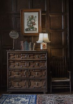Stately Home Interior #Wales #Antique #Bedroom #Chestofdrawers WallPanels  #Historic Part 94