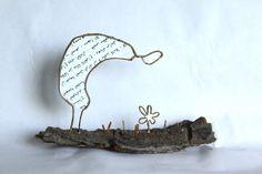 """""""Contempler la nature et s'émerveiller"""" en découpe de papier collée sous du kraft armé - création Epistyle"""