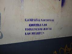COSAS VARIAS: stencils contra la violencia...