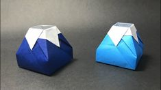 【Mica's Paper Craft Channels】 How to make an Origami Box / Mount Fuji / Tutorial / Instructions Tutorial by Mica My paper : Origami paper Subsc. Origami Design, Origami Fox, Box Origami, Origami Simple, Origami Box Tutorial, Origami Gifts, Origami Animals, Origami Flowers, Diagrammes Origami