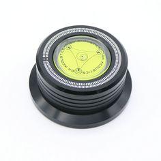 Trasporto libero 3 In 1 Record Morsetto LP Stabilizzatore del Disco Giradischi per la vibrazione di stabilizzazione velocità di rotazione orizzontale nero NUOVO