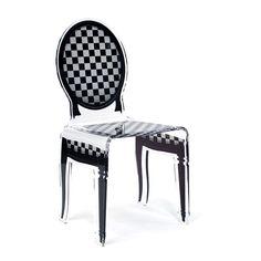 Sixteen Acrila white Houndstooth Chair. UnidecoCasa.com