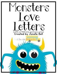 Monsters Love Letters {find and trace alphabet freebie}