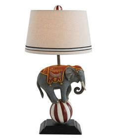 Another great find on #zulily! Circus Elephant Table Lamp #zulilyfinds