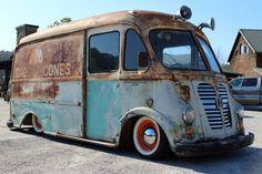 Sno-Low Cone Truck: 1960 International Metro - http://barnfinds.com/sno-low-cone-truck-1960-international-metro/