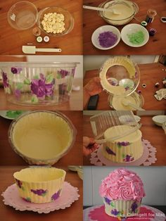 How to make a printed giant cupcake chocolate shell