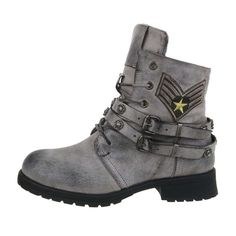 Hiking Boots, Biker, Shoes, Fashion, Women's Boots, Women's, Brown Ankle Boots, Gray, Moda
