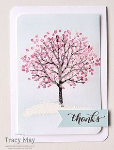 Sheltering Tree From Stampin' Up! I used the cherry blossom tree across the road from my house as inspiration for today's card, by Tracy May