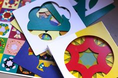 lovely and colorful kaleidograph cards make excellent entertainment for kids and adults