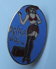 BOMBER ART PIN BADGE MADAME SHOO SHOO