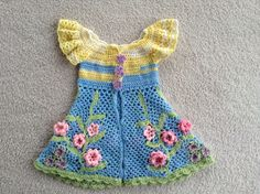 A personal favorite from my Etsy shop https://www.etsy.com/listing/260533470/irish-crochet-girls-pinafore-size-4t