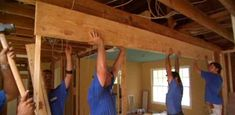 Watch this video to see how to remove a load bearing wall and put a beam in place supported by studs from home improvement expert Danny Lipford.