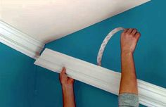 Peel and Stick Crown Molding. As seen on the Rachael Ray Show Today. Peel and Stick Crown Molding. As seen on the Rachael Ray Show Today. Remodeling Mobile Homes, Home Remodeling, Moldings And Trim, Crown Moldings, House Plans And More, Up House, Home Upgrades, Diy Décoration, Home Repairs