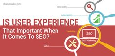 Is User Experience That Important When It Comes To SEO?   User experience may not first come to mind when you think of SEO, but what exactly is a search engine optimized website? Many bloggers and website owners mistakenly believe that it's making your site more relevant with title tags, meta tags, and alt tags. #Conversions, #SEO