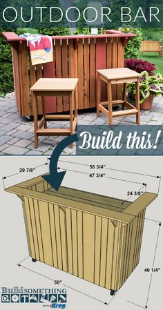 Easy Diy Outdoor Bar Plans - Diy Outdoor Bar Free Printable Project Plans At Buildsomething Outdoor Bar Plans Bar Plans Outdoor Bar Patio Bar 15 Outdoor Bar Ideas On A Budget Plan. Outdoor Patio Bar, Backyard Bar, Diy Patio, Outdoor Bars, Outdoor Pallet Bar, Patio Decks, Outdoor Steps, Rustic Outdoor Bar, Wood Patio