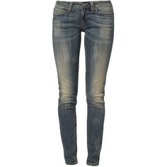 Levi's® MODERN DEMI SKINNY Slim fit jeans ($70) ❤ liked on Polyvore featuring jeans, pants, bottoms, calças, blue, skinny leg jeans, levi jeans, levi's, blue slim jeans and blue jeans