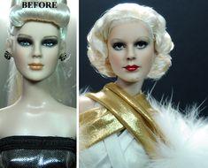 Jean Harlow custom doll repaint by Noel Cruz by noeling.deviantart.com on @DeviantArt
