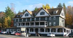 Adirondack Hotel, Long Lake, NY this is where we stayed 8/7/13 on our cycle trip.  Good food and great view