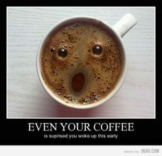 Coffee with a face...