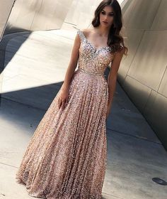11f4ec530d2 New Style Fashion Equin Sleeveless Sweetheart Long Prom Dresses 2019