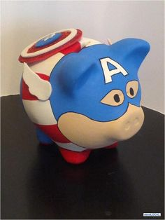 ALCANCIAS DE EQUIPOS - Buscar con Google Piggy Bank, Deco, Google, Paintings, Painted Flower Pots, Ornaments, Pigs, Money Box, Money Bank