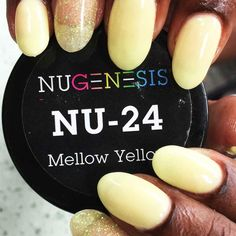NuGenesis Nails Dip Powder Mellow Yellow NU 24