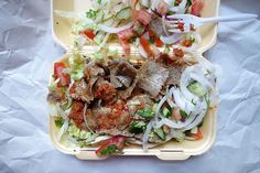 I must be one of the few people who enjoys a doner when not inebriated. Restaurant, Fish, Bar, Ethnic Recipes, People, Diner Restaurant, Pisces, Restaurants, People Illustration