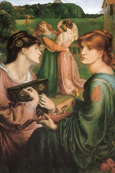 Dante Gabriel Rossetti, *The Bower Meadow*, 1872. Oil on canvas, 86.3 x 68 cm. Manchester Art Gallery, Manchester