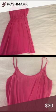Old Navy dress Old navy. Brand new. Super cute summer dress. Hot pink color. Old Navy Dresses Mini