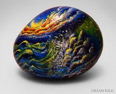 rock craft painting   Source: http://www.etsy.com/listing/125770681/original-landscape ...