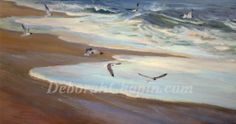 """My new studio gallery is shaping up.  Sold """"The Bay"""" at the Chesapeake Hyatt and installing this new piece """"Carolina Coast""""  in the installation, more info on my newsletter. Adding more new works as we speak. http://gallery.deborahchapin.com"""