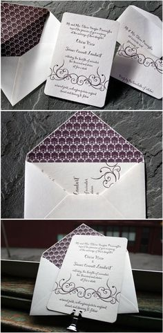 Letterpress Wedding Invitations by Smock, with gorgeous calligraphic font