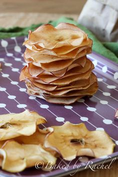 Maple Apple Chips - bakedbyrachel.com