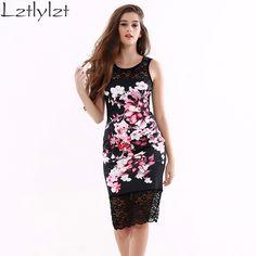 lztlylzt Dress Slim Style Lace Floral Women Dress 2016 Autumn Robe Sexy Black Vestido De Festa Renda Short Dress Clothes