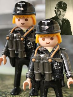 Custom Playmobil Soldado 12.ª SS División Panzer Hitlerjugend / SS Soldier 12.ª SS Panzer Hitlerjugend Division