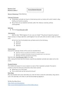 Printables Nutrition Worksheets High School the ojays lesson plans and worksheets on pinterest six essential nutrients plan worksheet by englishteachinghq via slideshare