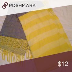 Yellow and blue scarf Pale yellow and blue extra wide soft scarf GAP Accessories Scarves & Wraps