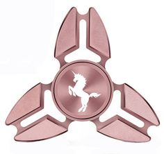 Fidget Spinner Tri-Spinner Aluminum Metal Unicorn