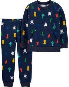 Drummer Girl Black B Cotton Crewneck Boys-Girls Sleepwear Pajama 2 Pcs Set