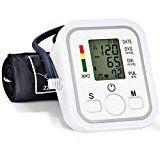 Blutdruckmessgerät Herzfrequenzmesser Digital Oberarm  Puls-Messegerätmit Arrhythmie-Anzeige, Leichte Lesbarkeit LCD Bildschirm und Blutdruckmesser 99 Datenspeicherungen Geschenke für Ältere und Alle Menschen im Krankenhause zu Hause