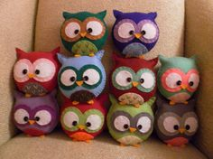 Plush felt owl - must make one or two or three or ... these would be cute party favors 4 Avas bday
