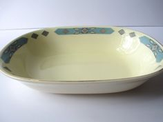 Mid Century WS George Blue Cherokee Oval Serving by thechinagirl