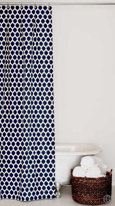 Navy Shower Curtains On Pinterest