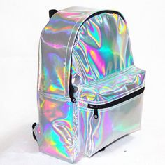 online shopping for Zicac Girl's Sliver Holographic Laser Leather Backpack Travel Casual Daypack (silver) from top store. See new offer for Zicac Girl's Sliver Holographic Laser Leather Backpack Travel Casual Daypack (silver) Cute Backpacks, Girl Backpacks, School Backpacks, Silver Backpacks, Mochila Tote, Mini Mochila, Leather School Backpack, Backpack Purse, Small Backpack