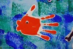 Maro's kindergarten : Handprint colors crafts
