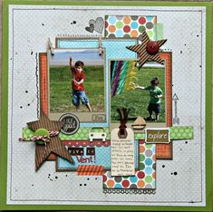 Scrap book page Christmas Scrapbook Layouts, Scrapbook Paper Crafts, Scrapbook Albums, Scrapbook Cards, Scrapbook Patterns, Scrapbook Layout Sketches, Scrapbooking Layouts, Scrapbook Designs, Vive Le Vent