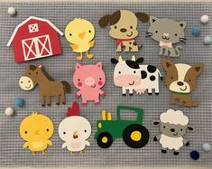 Farm Animal Cutouts Farm Animal Die Cuts Farm Animals Farm Themed Baby Shower Decor Birthday Party Decor Scrapbooking Set of 6 9 12 – Fitness Tips for Everyone Farm Animal Party, Farm Animal Birthday, Farm Birthday, Farm Party, Birthday Parties, Animal Cutouts, Create A Critter, Barnyard Animals, Festa Party